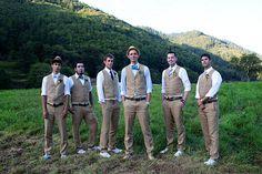 matching groom and groomsmen outfits Groomsmen Vest, Groomsmen Outfits, Bridesmaids And Groomsmen, Vintage Groomsmen, Country Groomsmen, Casual Groomsmen, Wedding Bridesmaids, Wedding Vest, Grey Suit Wedding