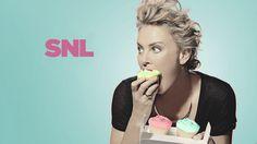 Charlize Theron + cupcakes. Enough said. | ©2014/Mary Ellen Matthews/NBC | #SNL
