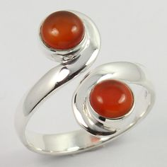 Antique Fashion Ring Size US 8.5 Real CARNELIAN Gemstone 925 Sterling Silver NEW #SunriseJewellers #Fashion