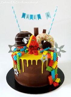 Lego Ninjago drip cake :)