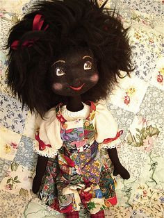 Hand Crafted Cloth Doll by Malphi, via Flickr