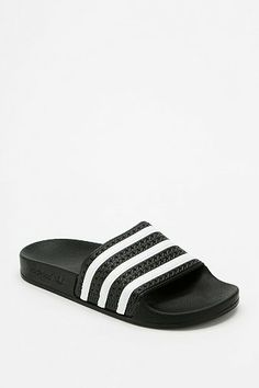 adidas Originals Adilette Pool Slide Sandal - Urban Outfitters Size Women's 10 in the color black