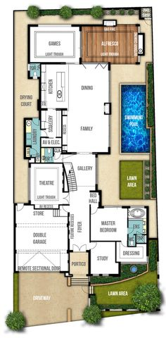 individually designed two storey house plans Contemporary House Plans, Modern House Plans, Small House Plans, Villa Design, Floor Design, House Design, Dream House Plans, House Floor Plans, Two Storey House Plans