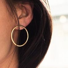 Earrings For Women Statement Round Circle Studs Earrings Ladies Fashion Ornaments Hand Made Elegant Weeding Gift