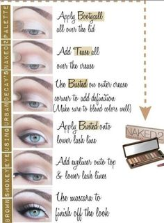 make up eye-shadow steps - beginner