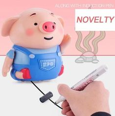 Educational Creative Pen Inductive Toy Pig——Second half price – Deals-o-saur Pig Pen, Usb, Cute Pigs, Light Music, You Draw, Marker Pen, Early Education, Waldorf Education, Baby Kind