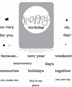 Phrase Play #5 Mini Stamp Set: Papertreyink
