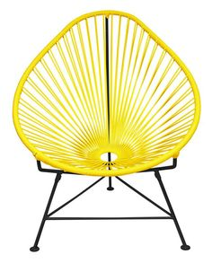 Acapulco Chair in Yellow with Black Frame by Innit Designs