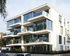 Haus am See, Münster, by Kresings Modern Townhouse, Townhouse Designs, Minimalist House Design, Modern House Design, Haus Am See, Residential Architecture, Architecture Models, Architecture Student, Beautiful Architecture