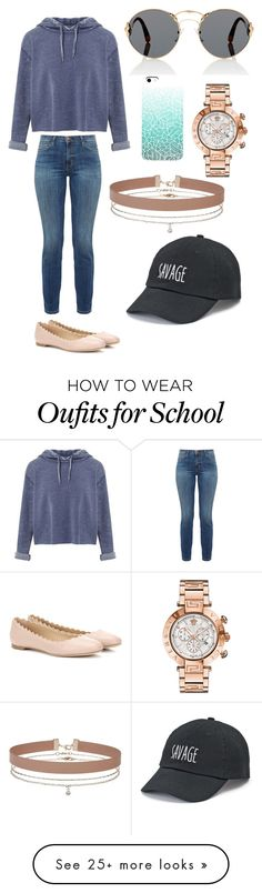 """Chill for school"" by ella-r62292 on Polyvore featuring Prada, Miss Selfridge, Current/Elliott, Chloé, Versace and SO"