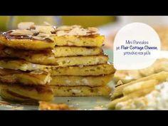 Mini pancakes με Flair Cottage Cheese και μέλι | Συνταγή - YouTube Mini Pancakes, Waffles, Cottage Cheese, Breakfast, Food, Youtube, Morning Coffee, Essen, Waffle