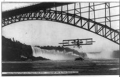 Lincoln Beachey's Flight under Niagara Falls Bridge. c1911. Library of Congress Prints and Photographs Division.