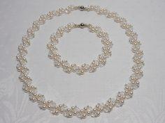 Wedding Jewellery – Bridal necklace bracelet set,Wedding jewellery set – a unique product by akcrystalbead on DaWanda