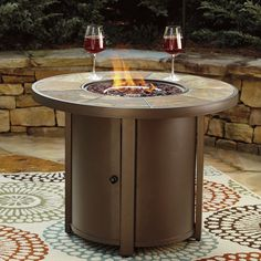 Darby Home Co Thelma Aluminum Propane Fire Pit Table