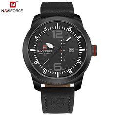 NAVIFORCE Luxury Brand Men Sport Watches Men's Quartz Clock Man Army Military Leather Wrist Watch Relogio Masculino