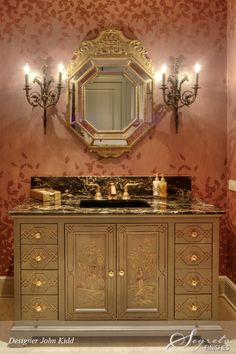 John Kidd ~ handpainted chinoiserie cabinetry.