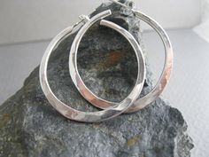 Hey, I found this really awesome Etsy listing at https://www.etsy.com/listing/102083010/sterling-hammered-hoops-handcrafted