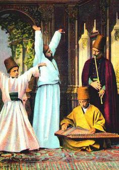 An Islamic religious practice by disciples of Rumi, who are known as whirling dervishes. Sufi Music, Spiritual Music, Dance Music, Empire Ottoman, Whirling Dervish, Istanbul, Romanticism, Islamic Art, Fun To Be One