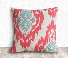 Ikat Pillow Cover Pillow Cover Pillow Covers Linen by 5CHomeDecor, $14.99