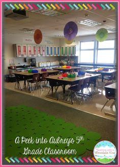 {Peek of the Week} A Peek Inside REAL Classrooms. Take a look inside Aubrey's 5th grade classroom!