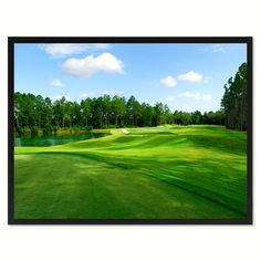 Fleming Island Golf Course Photo Canvas Print Pictures Frames Home Décor Wall Art Gifts