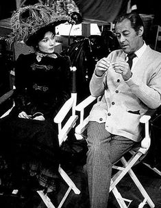 """""""My Fair Lady"""" Audrey Hepburn and Rex Harrison 1964 Warner Bros. Hooray For Hollywood, Golden Age Of Hollywood, Classic Hollywood, Old Hollywood, Hollywood Quotes, My Fair Lady, British Actresses, Actors & Actresses, Audrey Hepburn Movies"""