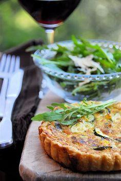 Leek  Zucchini Tart  #vegetarian #recipe