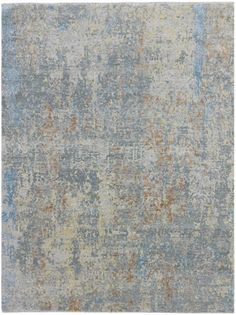 Area rug by Amer Rug - Mystique Collection, Steel gray, hand-carved/spun New Zealand wool and raw silk