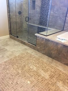 We love the look of a tile rug inlay, especially when it's marble! https://arizonatile.com/en/products/mosaics/natural-stone-mosaics/basketweave #tile #marble #mosaic #aztile