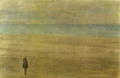 James Abbott McNeill Whistler (American 1834–1903) [Impressionism, Tonalism] Harmony in blue and silver: Trouville, 1865.