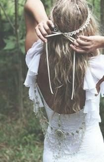 Hippie Style Casual Wedding Dresses | wedding photo - BoHo Chic Wedding...LOVE THE BACK OF THIS THING!!!!
