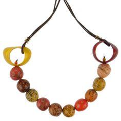 Kette CIRCLES multicolored warm, Tagua 28 EUR