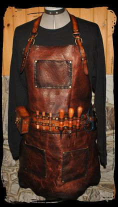 steampunk leather apron by Lagueuse.deviantart.com on @DeviantArt