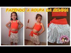 FAZENDO A ROUPA DA MOANA FANTASIA - YouTube