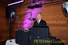 DJ Peter Naughton at Allyssia and Ryan's wedding ceremony and reception, April 2016.
