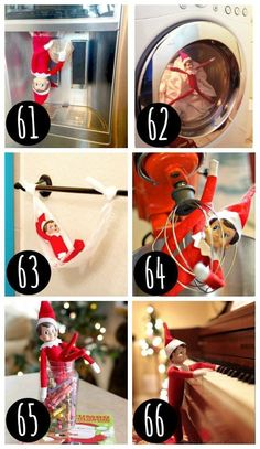 New Elf on the Shelf ideas! Lots of FUNNY and EASY Elf on the Shelf ideas! #elfontheshelf