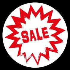 Sale / Uitverkoop stickers rond 40 cm.