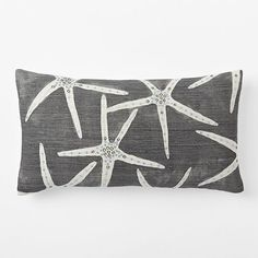 Embellished Starfish Silk Pillow Cover | West Elm