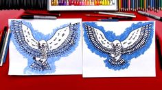 How To Draw A Realistic Snow Owl (Art Club Members) Art For Kids Hub, Art Lessons For Kids, Projects For Kids, Art Projects, Drawing Videos For Kids, Easy Drawings For Kids, Kids Videos, Easy Drawings Sketches, Easy Drawing Steps