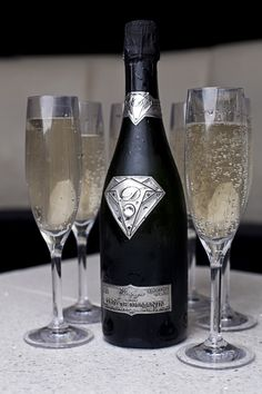 Alexander Amosu & champagne brand Goût de Diamants have created the world's most expensive bottle of champagne, costing about $1.8 million called the Taste of Diamonds.  All bottles come as standard with an exquisite diamond superman themed bottle design encrusted with a diamond cut Swarovski crystal.