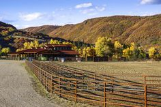 Steamboat River Ranch horse facility in the Elk River Valley, Colorado