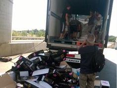 Agricultores franceses atacan un camión lorquino de verduras y cítricos