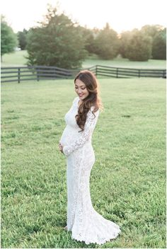 Private Home Backyard Wedding Pregnant Bride White Lace Dress Ksant Photography