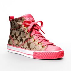 Hot Pink Womens Coach Sneakers def. a valentines gift! #nordstrom #SBGalleria