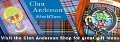 The Worlds largest range of Anderson clan merchandise @Anderson Clan Shop #Anderson