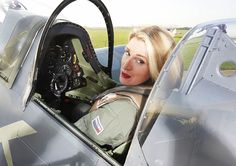 The flight in a Spitfire, pictured, could just about be the best Christmas present any Briton might receive for next year