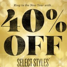 Save 40% Off Select Styles Sitewide at Silver Jeans Co. This offer is valid online until tomorrow January 1, 2015 at 11:59pm EST  http://www.mrsjanuary.com