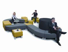 Siedziska Snake - rozwiązanie do Twojej recepcji Modular Furniture, Outdoor Furniture Sets, Outdoor Decor, Breakout Area, Soft Seating, Sofa, Couch, Color Swatches, Soft Furnishings