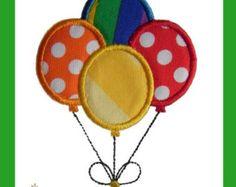 Balloons Applique embroidery design