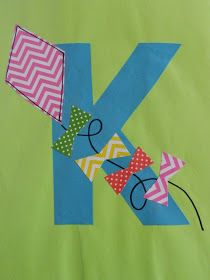 K is for Kite via: the vintage umbrella: Preschool Alphabet Projects... Letters I-P